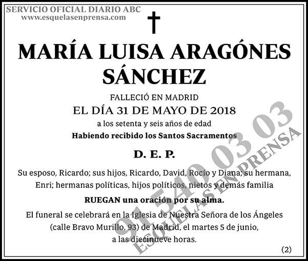 María Luisa Aragonés Sánchez